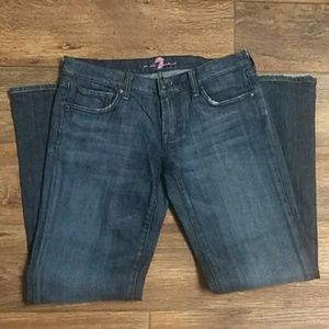 7 for all mankind size 28 flare bootcut jeans